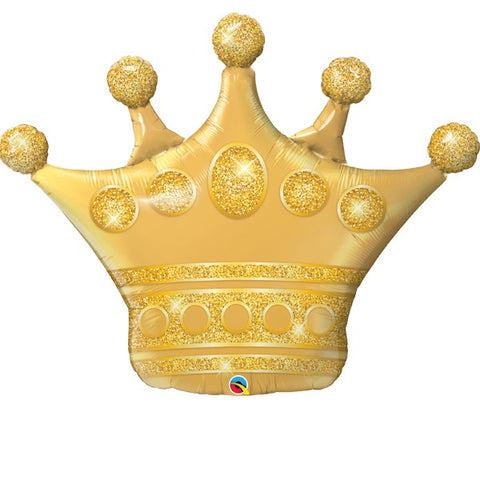 Golden Crown Supershape Foil Balloon | 41""