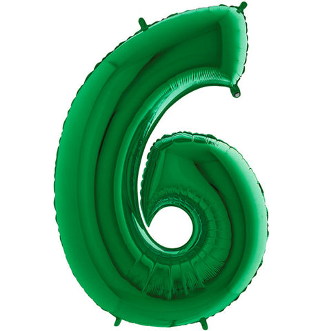 Foil Numbers Metallic Green Balloons | 40""