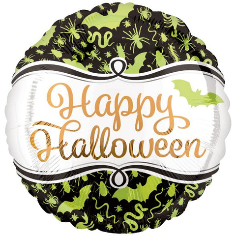 Click & Collect Foil Green Critters Halloween Balloon | 18""