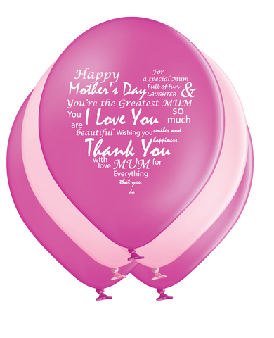 Latex Preprinted Mother's Day Balloons | 10""
