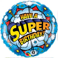Click & Collect Foil Round Have a Super Birthday Balloon | 18""