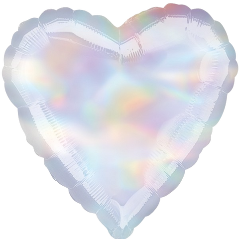Foil Heart Pearlescent Balloons | 18""