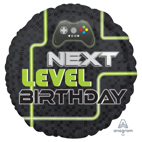 Foil Round Next Level Birthday Balloon | 18""