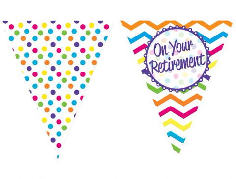 On Your Retirement Paper Bunting | 12ft