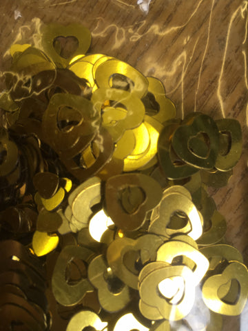 Gold Party On Hearts Confetti
