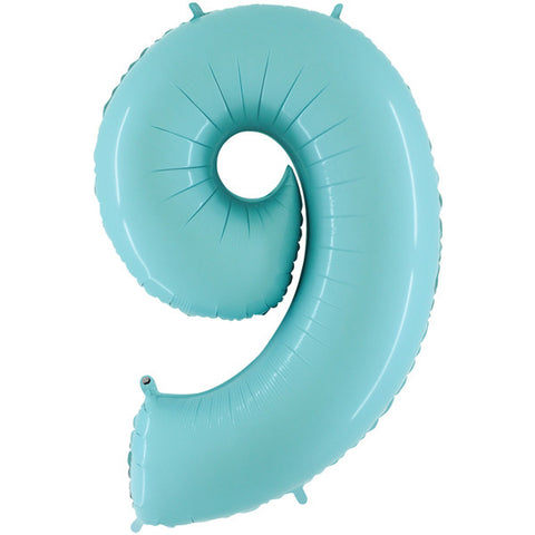 Foil Numbers Pastel Blue Balloons | 40""