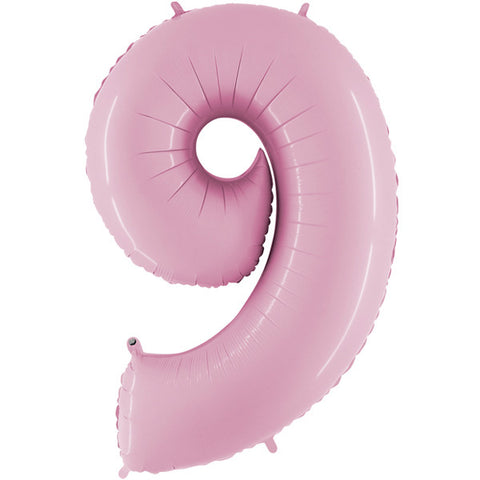 Foil Numbers Pastel Pink Balloons | 34""