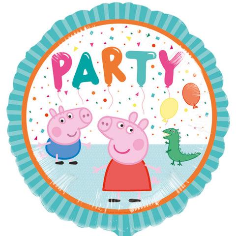 Foil Round Peppa Pig and George Party Balloon | 18""