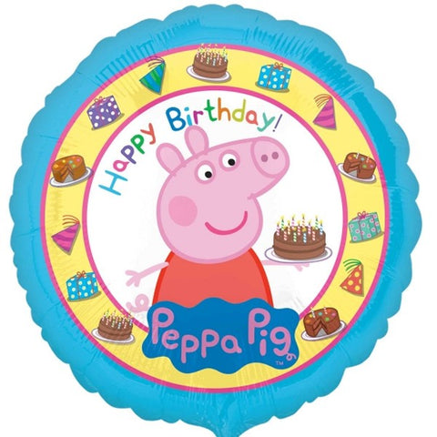 Foil Round Peppa Pig Cake Balloon | 18""
