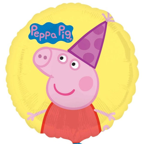 Peppa Pig Yellow Party Hat Balloon | 18""
