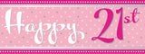 Pink 'Age' Birthday Foil Banners | 9ft
