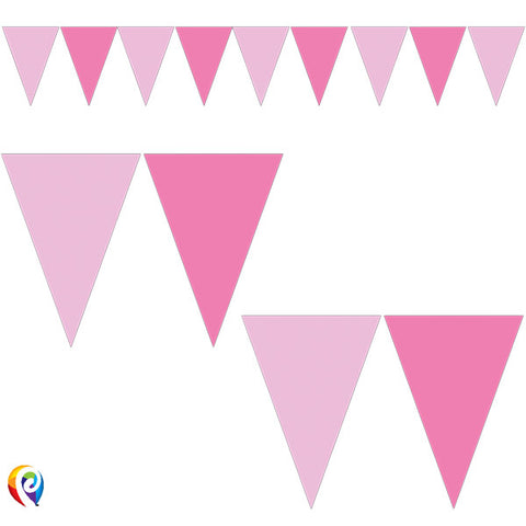 Pink Triangle 9 Flag Banner | 2.3m