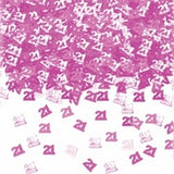 Pink 'Numbers' Birthday Confetti
