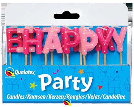 Happy Birthday Pink Candles