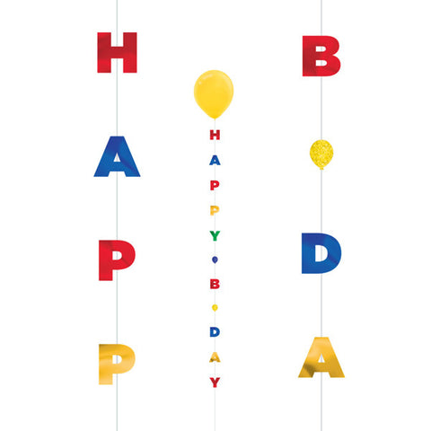 Primary Colours Happy Bday Fun String | 1.82m
