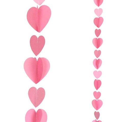 Pink Hearts Balloon Tail | 1.2m