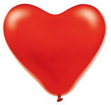 Latex Heart Red & White Balloons Pack | 12""