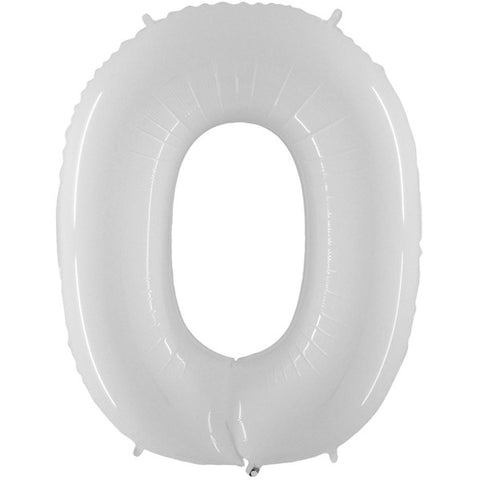 Click & Collect | Foil Numbers White Balloons | 40""