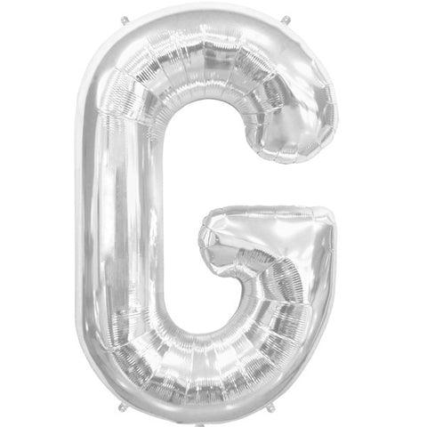 Foil Letters Metallic Silver Balloons | 34""