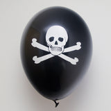 Latex Preprinted Skull and Crossbones Balloons | 10""