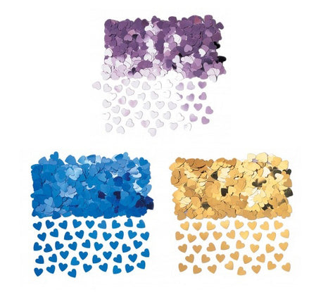 Sparkle 'Colour' Hearts Confetti