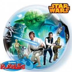 Foil Bubble Star Wars Light And Dark Balloon | 22""
