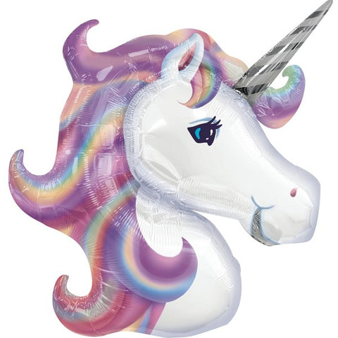 Foil Unicorn Head Pastel Balloon | 33""