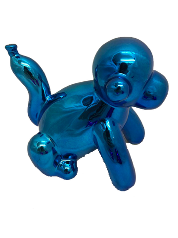 Small Blue Balloon Monkey Ornament
