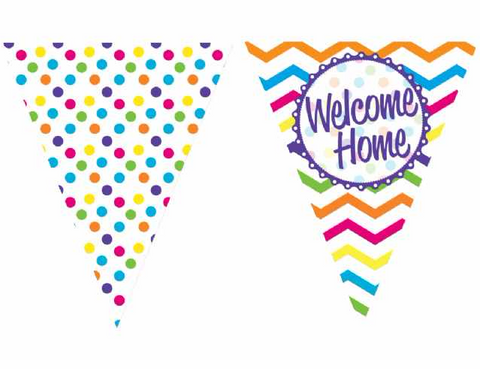 Welcome Home Paper Bunting | 12ft