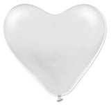 Latex Heart Red White & Pink Balloons Pack | 12""