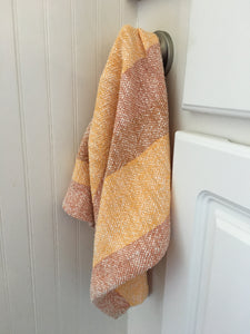 Orange Striped Dish Towel