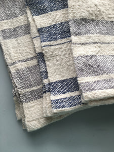 Gray and White Striped Dish Towel