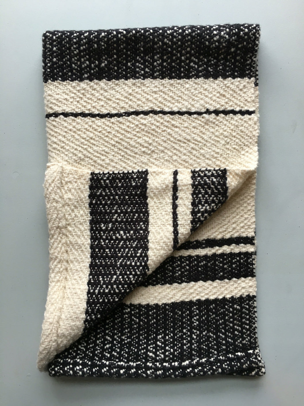 Dish Towel Woven Towel Black and White
