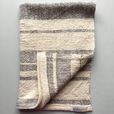 Cotton Dish Towel • Gray and White