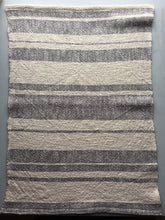 Cotton Dish Towel Woven Towel Gray and White