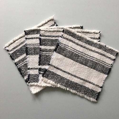 Cocktail Napkins Handwoven Cotton Napkins Set of 4