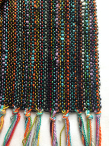 Black Scarf Hand Woven