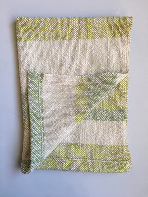 Green Woven Dish Towel Cotton