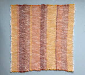 Orange Striped Cloth Napkins SET of TWO Dinner Napkins Cotton Napkins