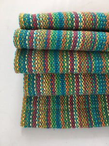 Blue Cotton Dish Towel Rainbow Towel