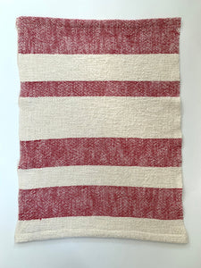 Cotton Dish Towel •  Red and White