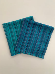 Blue Cotton Napkins • Set of 4
