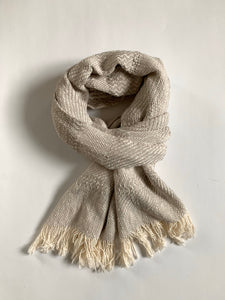 Cloudy Gray Pattern Scarf • WIDE