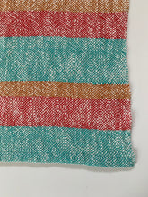 Woven Dish Towel • Cotton • Teal, Orange, Red