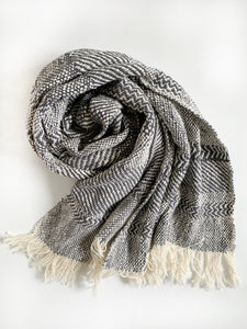 Overcast Gray Pattern Scarf • WIDE