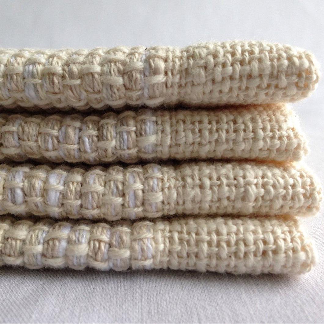 6 Placemats White Sand Set of 6 Handwoven