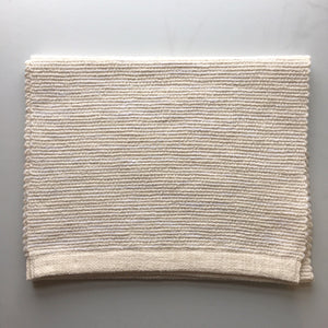 Natural Cotton Hand Woven Table Runner (white sand)