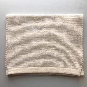 "68"" Natural Cotton Hand Woven Table Runner (white sand)"