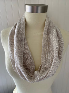 Gray Cotton Scarf INFINITY