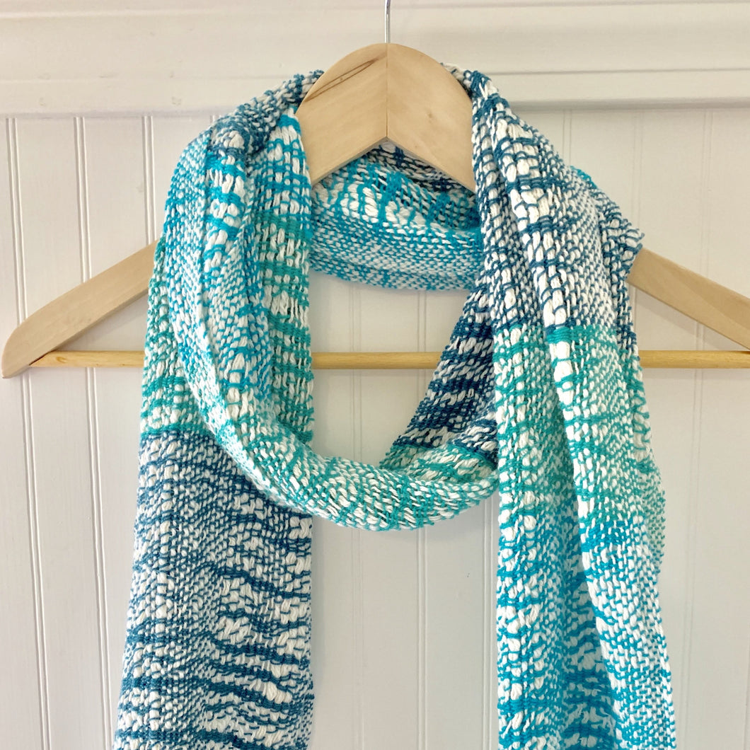 Blue Stripe Boho Scarf